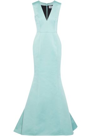 J.MENDEL Fluted silk-faille gown