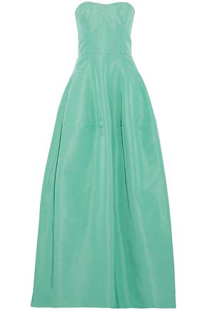J.MENDEL Strapless flared silk-faille gown