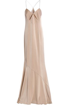 GALVAN  London Cutout washed-satin gown