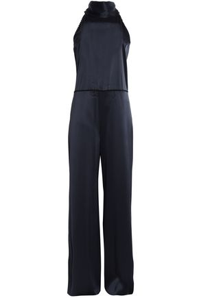 GALVAN  London Silk-satin jumpsuit