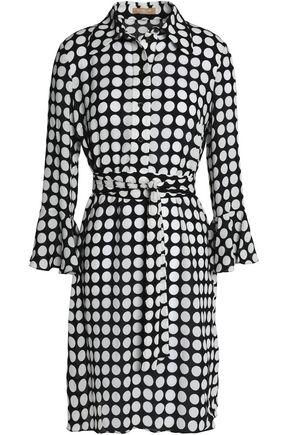MICHAEL KORS COLLECTION Belted polka-dot silk dress