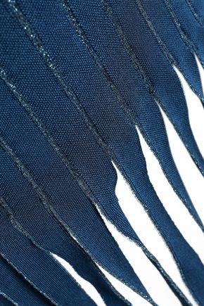 HERVÉ LÉGER Khloe fringed metallic bandage dress