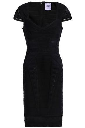 HERVÉ LÉGER Elena mesh-paneled bandage dress