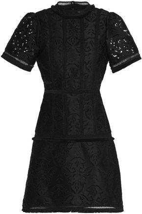 RACHEL GILBERT Fringe-trimmed broderie anglaise mini dress