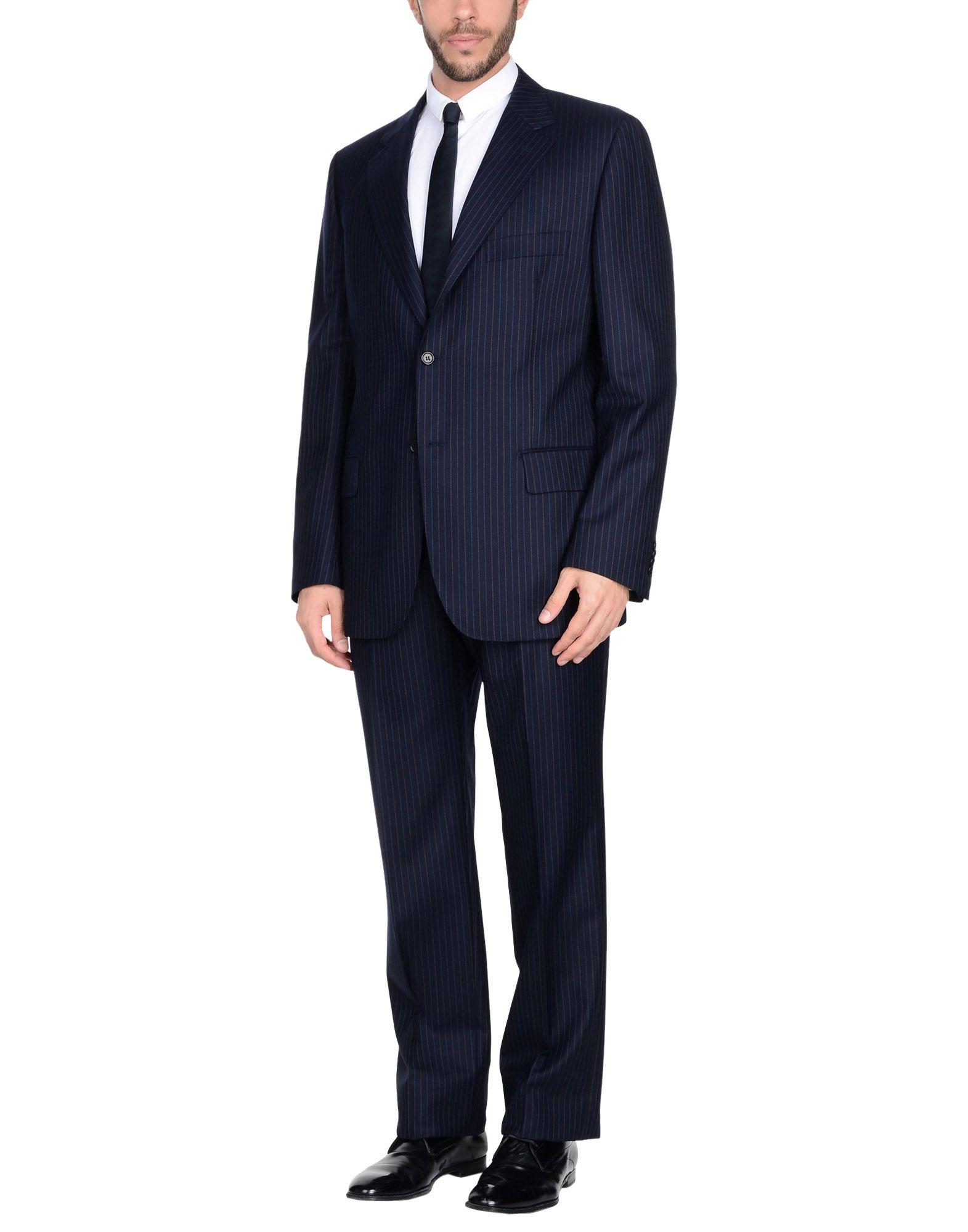 《送料無料》RIVIERA Milano メンズ スーツ ダークブルー 44 バージンウール 100%