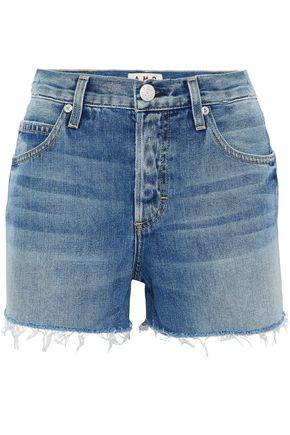 AMO Tomboy distressed denim shorts