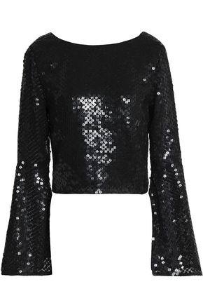 RACHEL GILBERT Inga sequined tulle top