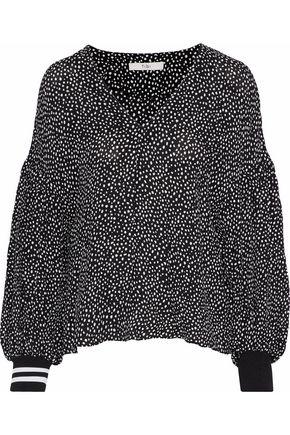 TIBI Printed crepe blouse