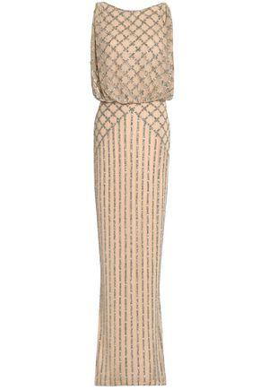 RACHEL GILBERT Yuliya gathered bead-embellished tulle gown