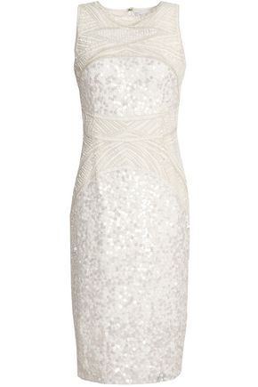 RACHEL GILBERT Renee bead and sequin-embellished tulle dress