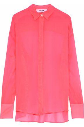 MSGM Neon silk crepe de chine shirt