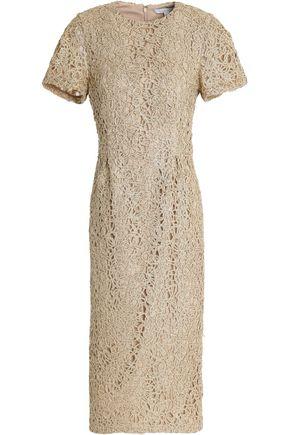 RACHEL GILBERT Metallic beaded lace dress