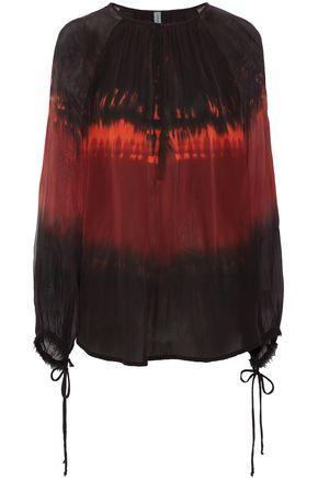 RAQUEL ALLEGRA Dreamer tie-dyed silk-voile blouse
