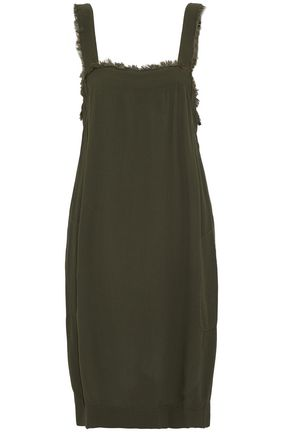RAQUEL ALLEGRA Frayed crepe dress