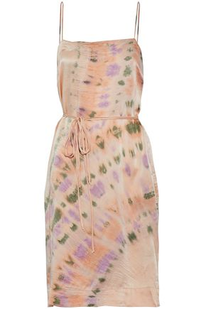 RAQUEL ALLEGRA Tie-dyed crinkled-silk dress