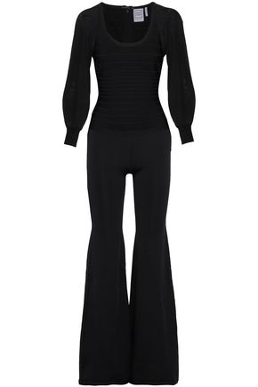 HERVÉ LÉGER Stretch-knit and bandage jumpsuit
