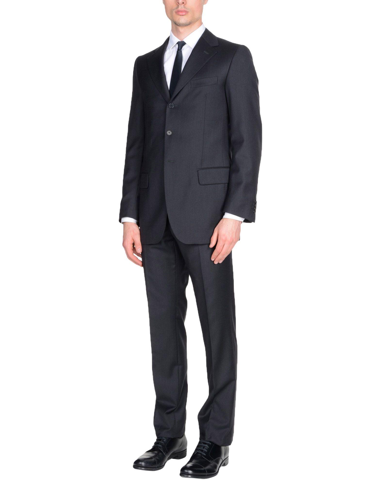 《送料無料》RIVIERA Milano メンズ スーツ ブラック 46 バージンウール 100% / スーパー150 ウール
