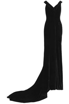 RACHEL GILBERT Wrap-effect velvet gown
