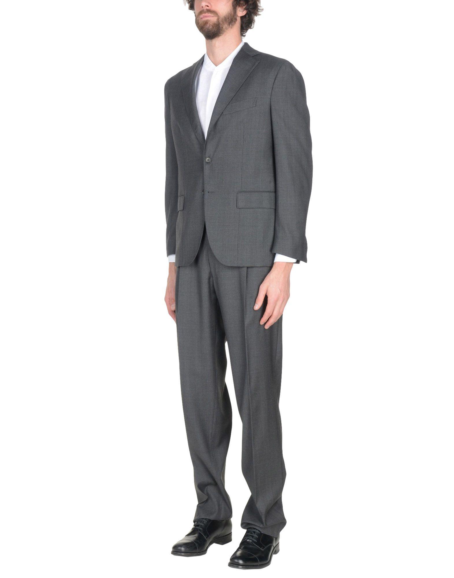 《送料無料》RIVIERA Milano メンズ スーツ グレー 52 スーパー150 ウール 100%
