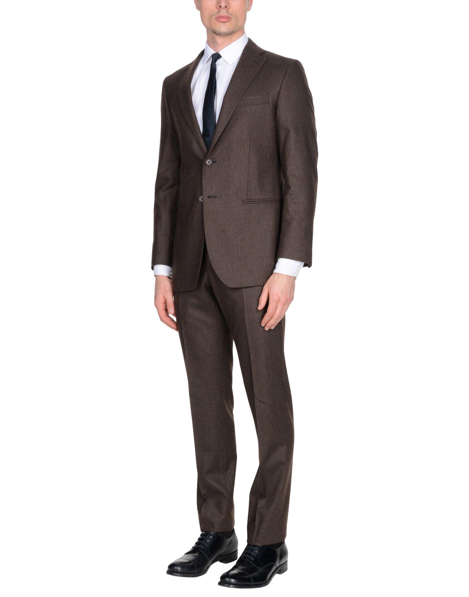 《送料無料》RIVIERA Milano メンズ スーツ ココア 46 スーパー150 ウール 100%