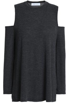 IRO Cold-shoulder jersey top