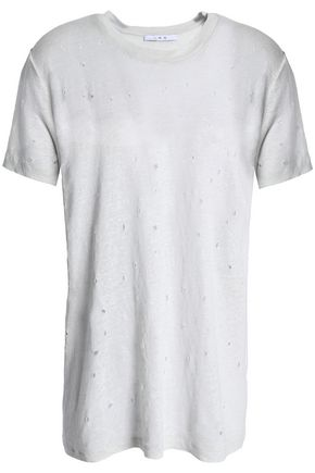 IRO Distressed linen T-shirt