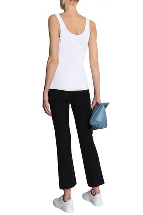 BAILEY 44 Fonda leather and stretch-jersey tank