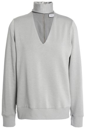 BAILEY 44 Eye Splice cutout stretch-modal fleece top