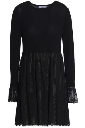 BAILEY 44 Castle Of The Orlando stretch-knit and lace mini dress