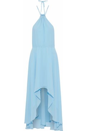 HAUTE HIPPIE Hi-Lo crepe de chine midi dress
