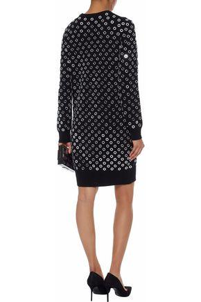 MICHAEL KORS COLLECTION Eyelet-embellished cashmere dress