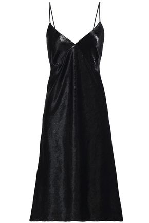 BAILEY 44 Love in the Dungeon metallic velvet slip dress
