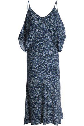 BAILEY 44 Bodacious cold-shoulder floral-print crepe de chine dress