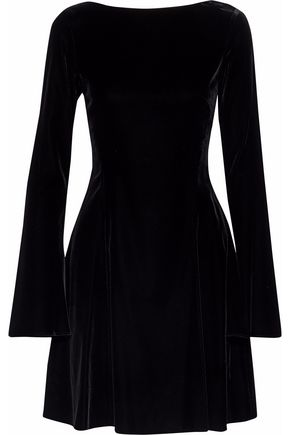 DEREK LAM 10 CROSBY Lace-up velvet mini dress