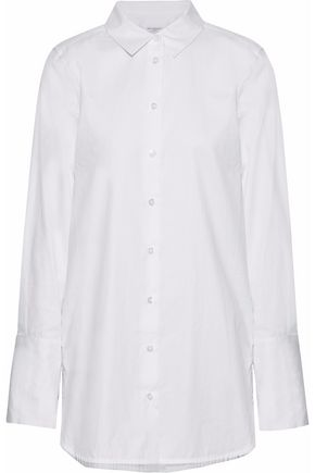 EQUIPMENT Arlette floral-print silk-trimmed cotton-poplin shirt