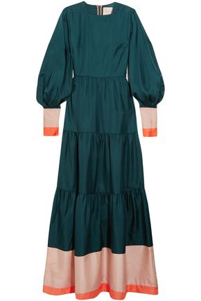 ROKSANDA Gathered silk crepe de chine gown