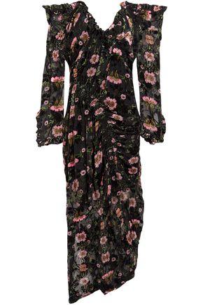 PREEN by THORNTON BREGAZZI Alice off-the-shoulder floral-print devoré-chiffon maxi dress