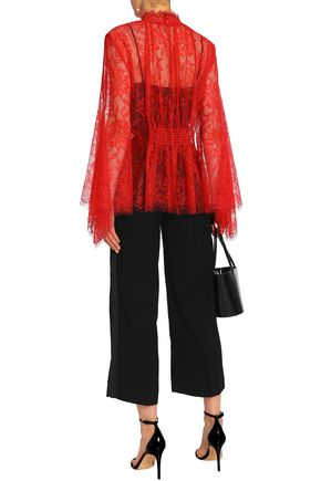 ALICE McCALL Love Myself shirred lace blouse