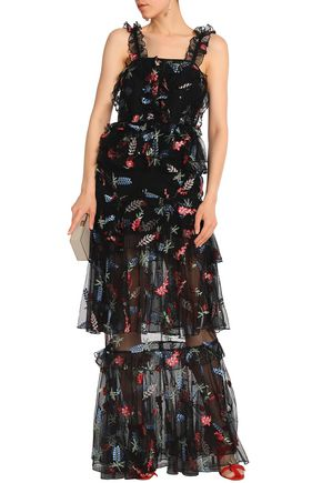 ALICE McCALL Tiered embroidered tulle gown