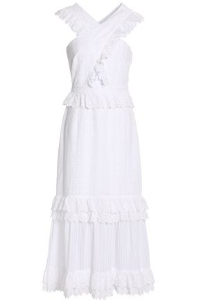 Ruffled Broderie Anglaise Cotton Midi Dress by Alice Mc Call