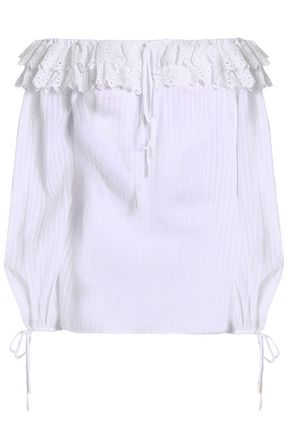 ALICE McCALL Got Me So Good off-the-shoulder lace-trimmed cotton blouse