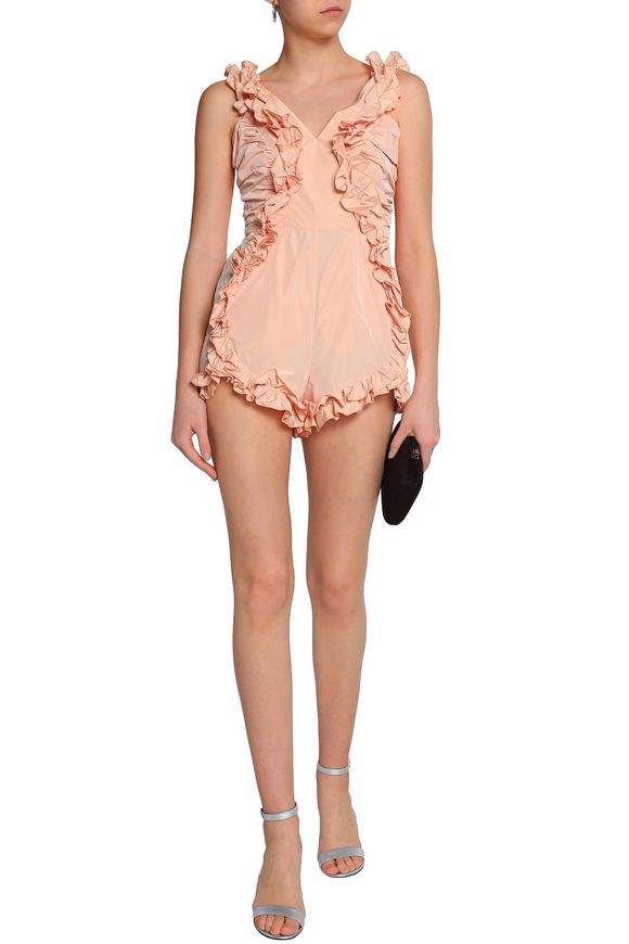 bf7459376a Stuck On You ruffle-trimmed twill playsuit