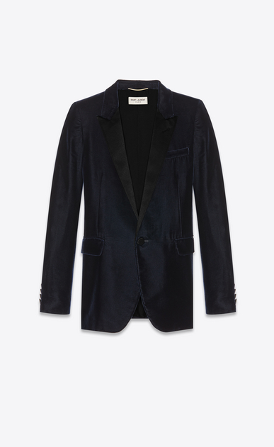 SAINT LAURENT Tuxedo Jacket Woman Tube tuxedo jacket in velours Saint Laurent a_V4