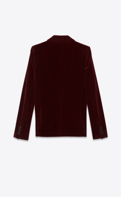 SAINT LAURENT Blazer Jacket Woman Jacket in burgundy velvet b_V4