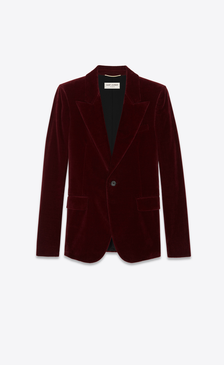 Single-Breasted Burgundy Blazer, Bordeaux