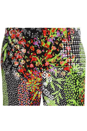 VERSACE Printed crepe shorts
