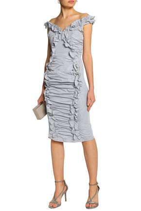 7d737fbfdd ALICE McCALL Move With Me ruffle-trimmed ruched taffeta dress