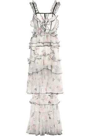 ALICE McCALL She Moves Me tiered embroidered tulle gown
