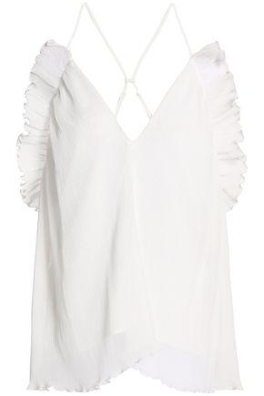 ALICE McCALL Lady Be Good ruffle-trimmed plissé chiffon camisole