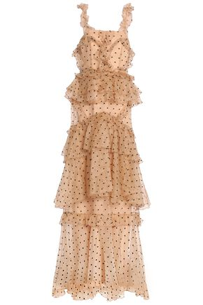 f69524dda8c ALICE McCALL Yoko tiered Swiss-dot silk-organza gown